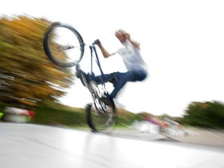 Mike Mullen pulling some BMX moves